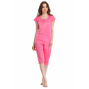 2 Pcs Nightwear Set In Pink