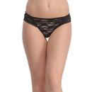 Black Lace Bikini With Scallop Lace At Legs
