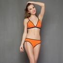 Trendy Chick Bra Brief Set In Orange