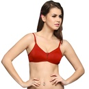 Everyday Cotton Wirefree Nonpadded T Shirt Bra In Red