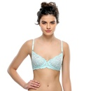 Blue Romantic Lace Bra