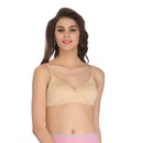 Lightly Padded Wirefree Demi Cup T-Shirt Bra - Skin