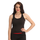 Cotton Camisole With Racer Back - Black