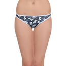 Cotton Low Waist Bikini - Blue