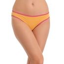 Cotton Low Waist Bikini - Yellow
