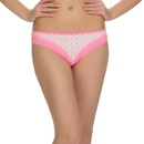 Cotton Spandex Panty With Polka Print And Lace