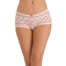 Cotton Spandex Hipster In Red With Funky Stork Print