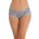 Cotton Spandex Hipster In Sea Green With Funky Animal Print