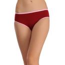 Cotton Mid Waist Bikini - Maroon