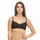 Cotton Non-Padded Non-Wired Bra In Black With Full Cups