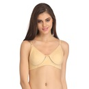 Cotton Rich Non Padded Wirefree T-Shirt Bra - Skin