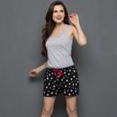 Cute Printed Shorts In Black