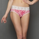Floral Lace Panty in Pink and White