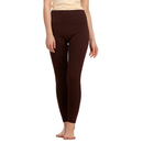 Cotton Spandex Leggings In Dark Brown