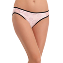 Mid Waist Bikini With Powernet Side Wings - Pink