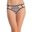 Mid Waist Bikini With Powernet Sides - Black