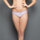 Printed Cotton Bikini Panty In Purple