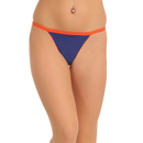 Polyamide Thong In Blue