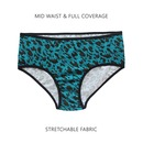 Printed Mid Waist Hipster- Green