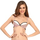 Trendy Printed Padded Bra With Lace Trims