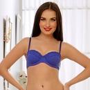 Cotton Padded Underwired bra In Blue