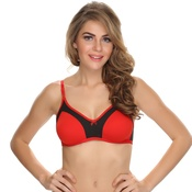 Double Layered Comfy T-Shirt Bra In Red