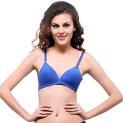 Push Up T-Shirt Bra in Royal Blue With Seamless Finish
