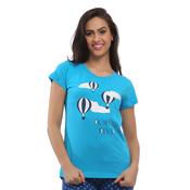 Cotton Graphic T-Shirt - Blue