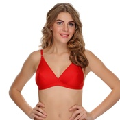 Cotton Non-padded Bra In Red