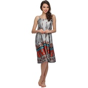 Lovely Beach Dress In Ethnic Print