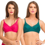 Pack Of 2 Cotton Non-Padded Non-Wired Bra With Full Cups