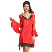 Short Night Dress In Red