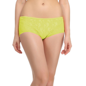 Yellow Boyshorts With All Over Front Lace