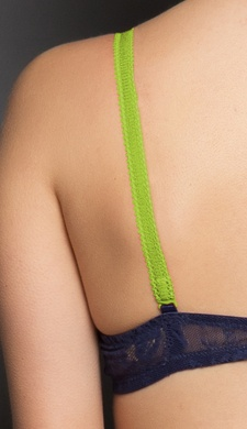 2 Pairs of Detachable Bra Straps (Leaf Green and Transparent)