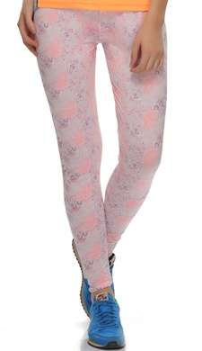Stretchy High Rise Tights In Floral Prints