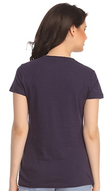 Cotton Comfy T-Shirt In Navy