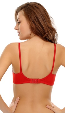 Cotton Non Padded Non Wired Bra In Red