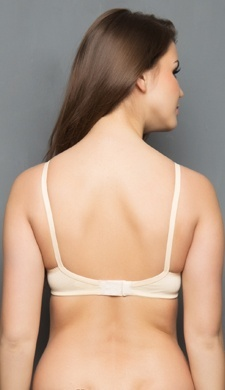 Cotton Non Padded Non Wired Bra In Nude