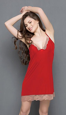 Lacy Babydoll In Red