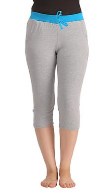 Cotton Yoga Capri - Grey