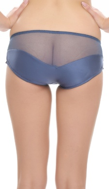 Midnight Blue Fashionable Panty In Glossy Finish