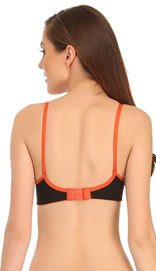 Padded Non-Wired T-Shirt Bra In Black