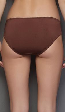 Lacy Spandex Bikini Panty in Brown