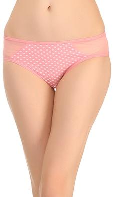 Polka Print Bikini In Light Pink