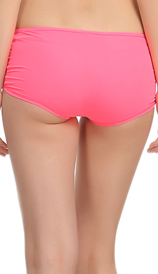 Pink Boyshorts With All Over Front Lace