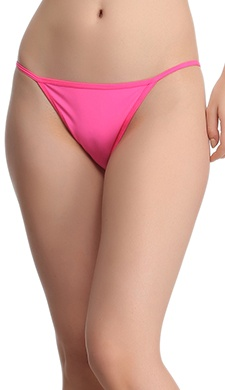 Polyamide With Back Net Panty In Shocking Pink