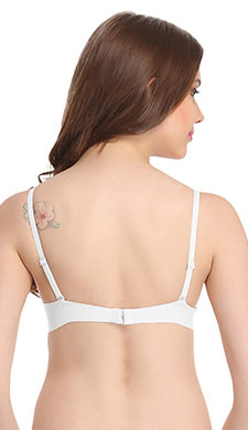 Push Up Underwired Bra With Detachable Straps - White