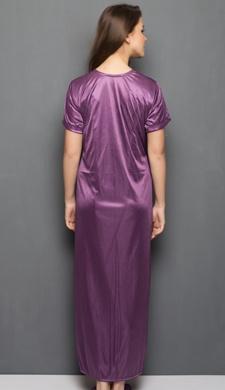 Satin Robe In Purple