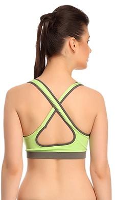 Polyamide Seamless Sports Bra With Cross Back Straps