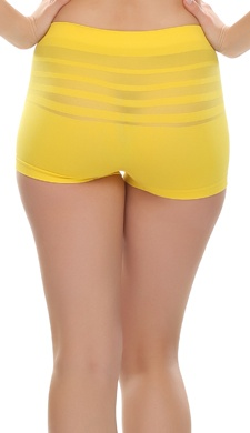 Soft Stretchy Boy Shorts In Yellow
